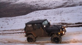 Video- Wrangler hitting rev-limiter on snow