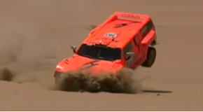 Dakar 2012 Video -Robby Gordon roll over