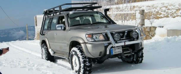 Nissan Patrol Super Safari on snow