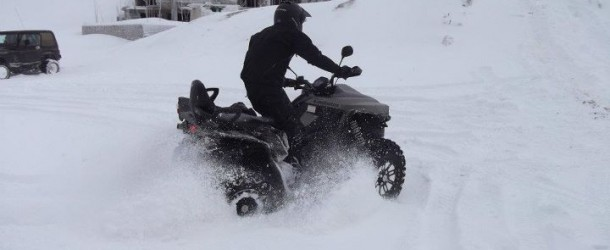 Cectek ATV On snow in Zaarour