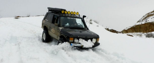 Video: Range Rover with ARB diff lock on snow