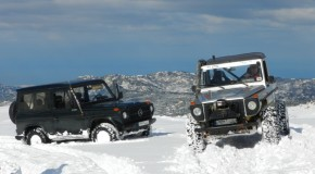 Album : Mercedes G class on snow at Zaarour