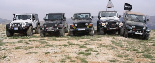 Jeep Wrangler meeting at Bhamdoun mountains