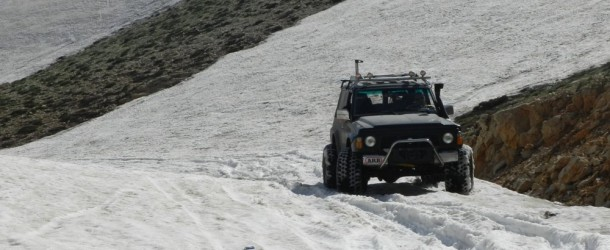 Video : Nissan Patrol v8 on frozen snow