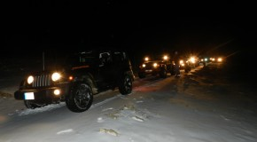 Trip to midein Kfardebian by night on snow